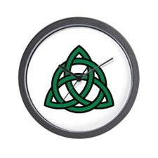 Green Celtic knot Wall Clock