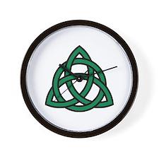 Green Celtic knot Wall Clock