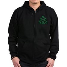 Green Celtic knot Zip Hoodie