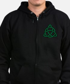 Green Celtic knot Zip Hoody
