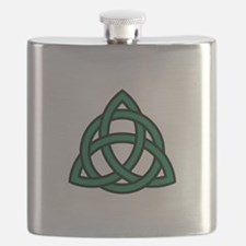 Green Celtic knot Flask