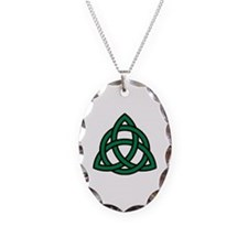 Green Celtic knot Necklace
