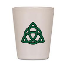 Green Celtic knot Shot Glass