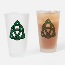 Green Celtic knot Drinking Glass
