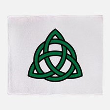 Green Celtic knot Throw Blanket
