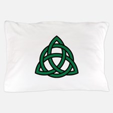 Green Celtic knot Pillow Case