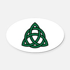 Green Celtic knot Oval Car Magnet
