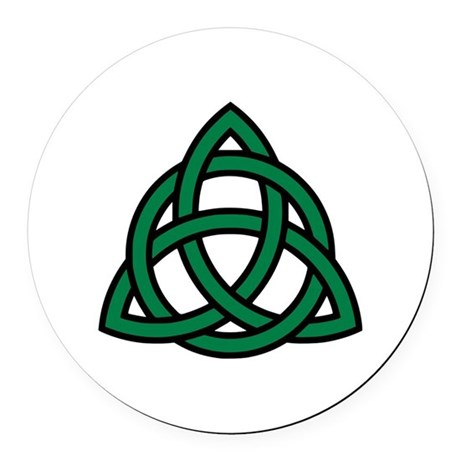 Green Celtic knot Round Car Magnet
