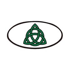 Green Celtic knot Patches
