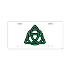 Green Celtic knot Aluminum License Plate