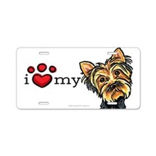Love My Yorkie Aluminum License Plate