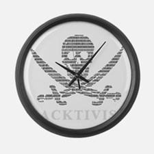Anonymous 99% Occupy t-shirt Large Wall Clock