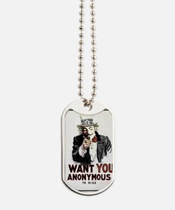 Anonymous 99% Occupy t-shirt Dog Tags