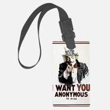 Anonymous 99% Occupy t-shirt Luggage Tag