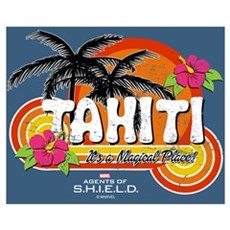 Greetings From Tahiti Wall Art Canvas Art