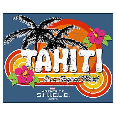 Greetings From Tahiti Wall Art Poster