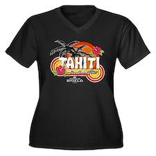 Greetings Fr Women's Plus Size V-Neck Dark T-Shirt