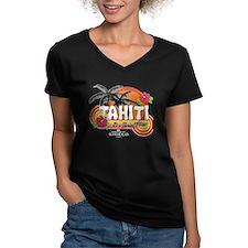 Greetings From Tahiti Women's V-Neck Dark T-Shirt