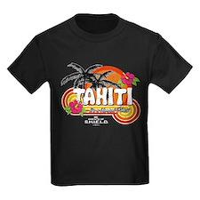 Greetings From Tahiti Kids Dark T-Shirt
