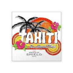 Greetings From Tahiti Square Sticker 3
