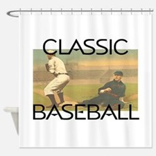 TOP Classic Baseball Shower Curtain