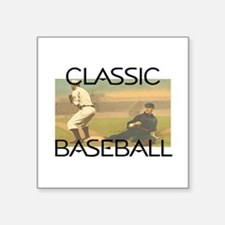 "TOP Classic Baseball Square Sticker 3"" x 3"""