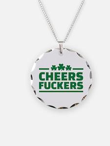 Cheers fuckers shamrocks Necklace