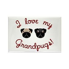 I love my Grandpugs Rectangle Magnet