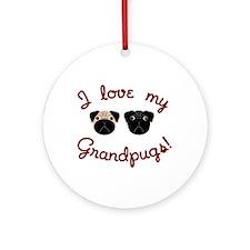I love my Grandpugs Ornament (Round)