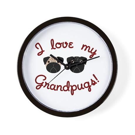 I love my Grandpugs Wall Clock