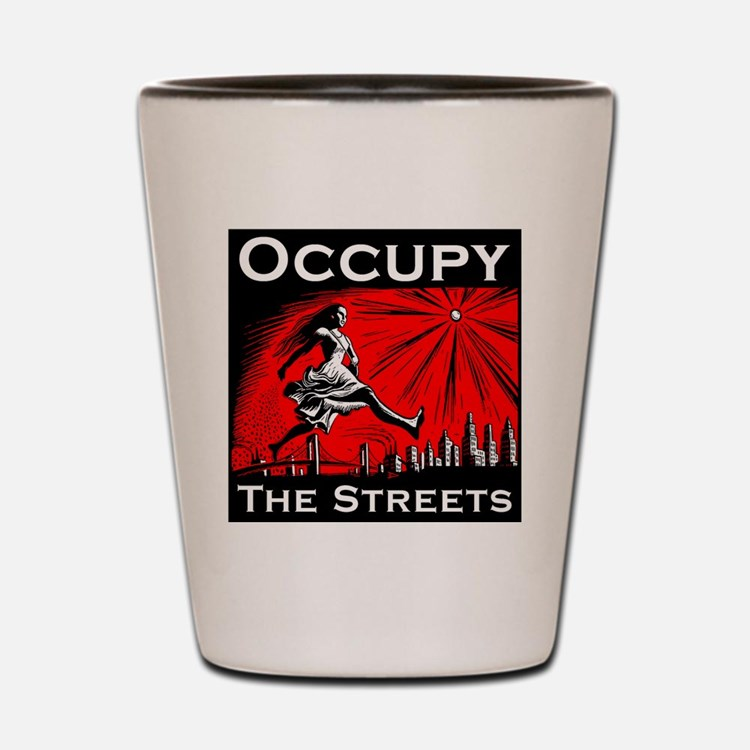 Anonymous 99% Occupy t-shirt Shot Glass