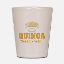 Quinoa Pronunciation Shot Glass