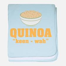 Quinoa Pronunciation baby blanket