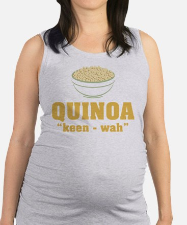 Quinoa Pronunciation Maternity Tank Top