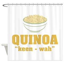 Quinoa Pronunciation Shower Curtain