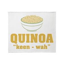 Quinoa Pronunciation Throw Blanket