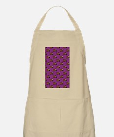 Cute Angry Brown Dog on Purple Apron