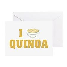 I Love Quinoa Greeting Cards