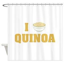 I Love Quinoa Shower Curtain