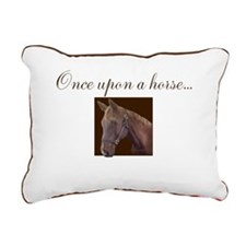 Equine Theme Rectangular Canvas Pillow #7124