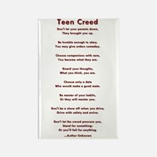 Teen Creed Rectangle Magnet