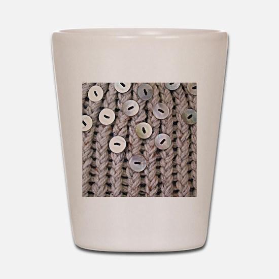 Oatmeal Knit Shot Glass