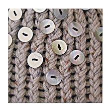 Oatmeal Knit Tile Coaster