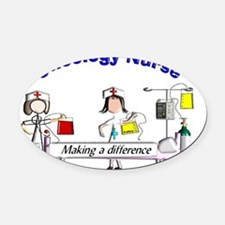 Oncology Nurse Making a Difference Oval Car Magnet