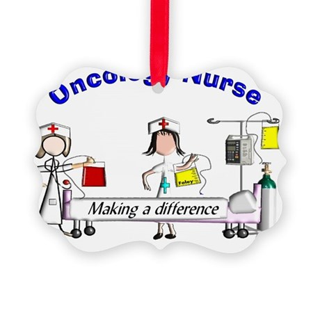 Oncology Nurse Making a Differenc Picture Ornament