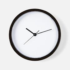 white Wanna Race on black Wall Clock
