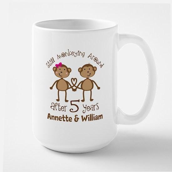 5th Anniversary Personalized Gift Mugs