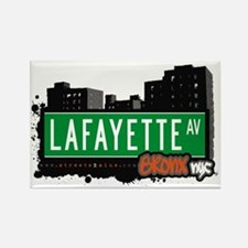 Lafayette Av, Bronx, NYC Rectangle Magnet