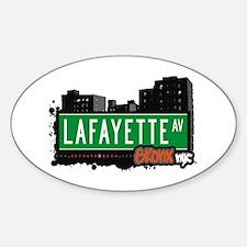 Lafayette Av, Bronx, NYC Oval Decal