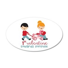 1st Valentines Day Together Wall Decal